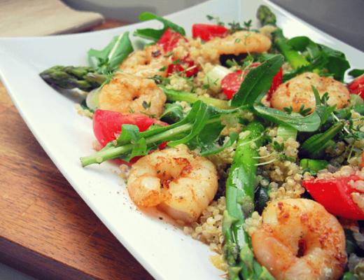 Quinoa-Spargel-salat-Garnelen
